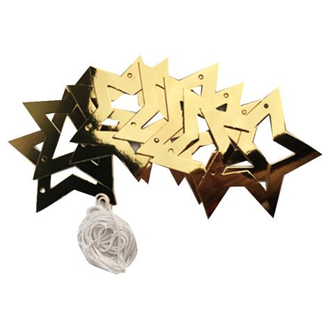 Гирлянда-подвеска Звезды Золотые Глянец