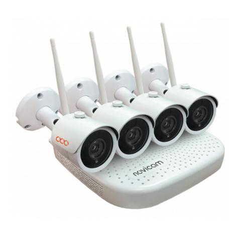 Беспроводной комплект видеонаблюдения WIFI KIT 1204 NOVIcam v.4410