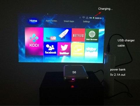 Проектор Everycom S6 plus 32GB (Android, WiFi)