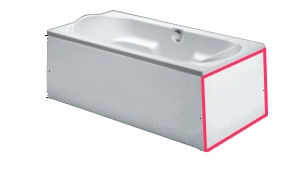 Панель для ванны торцевая Riho panel 80