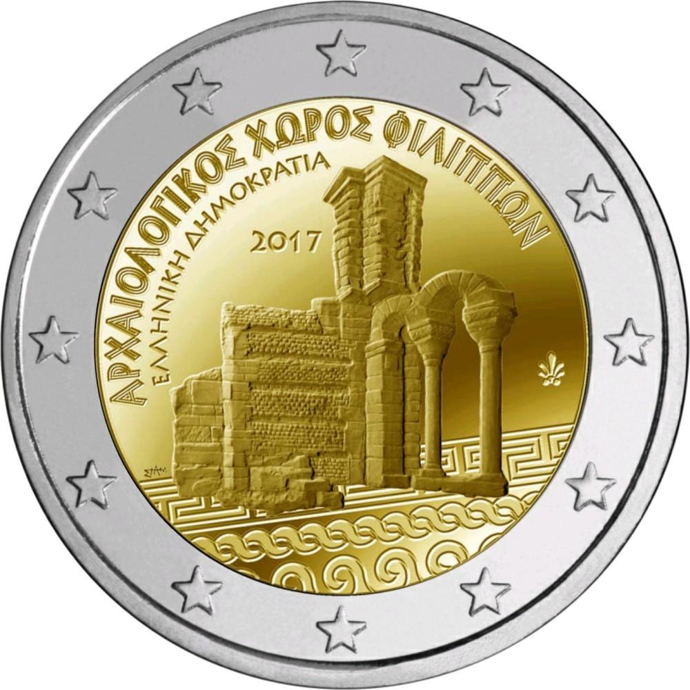 2 евро 2017 год. Греция. «Древний археологический комплекс Филлипы»