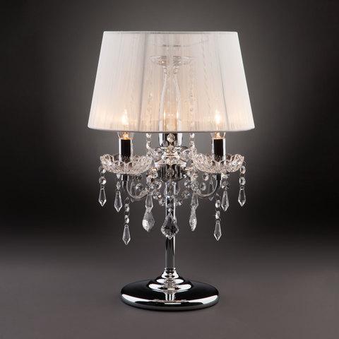 Настольная лампа 2045/3T хром/белый