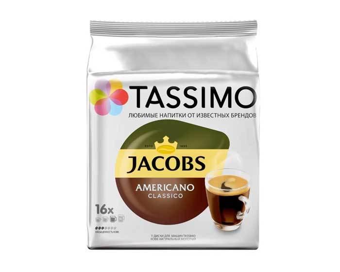 Кофе в капсулах Jacobs Americano Classico, 16 капсул для кофемашин Tassimo