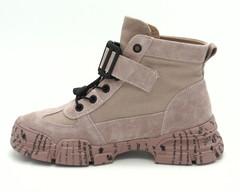 976х Ботинки розовые натуральный велюр
