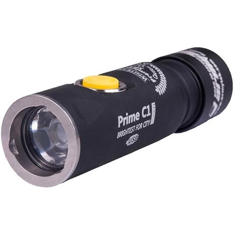 Фонарь светодиодный Armytek Prime C1 Pro Magnet USB+18350, 980 лм, теплый свет, аккумулятор