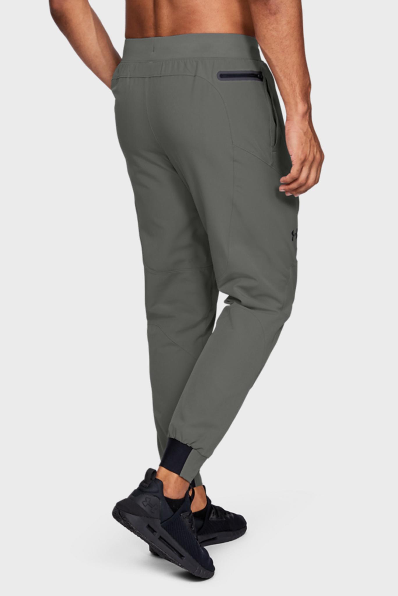 Мужские зеленые спортивные брюки UA FLEX WOVEN JOGGERS Under Armour