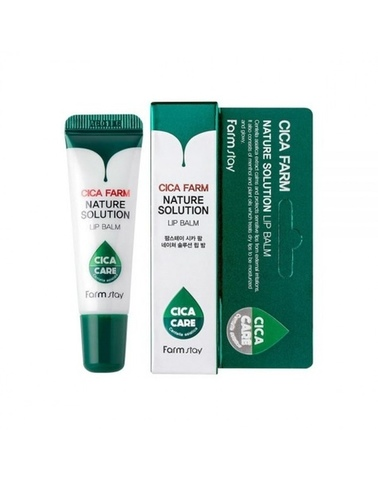 FarmStay Восстанавливающий бальзам для губ с центеллой азиатской FarmStay Cica Farm Nature Solution Lip Balm 10 г.