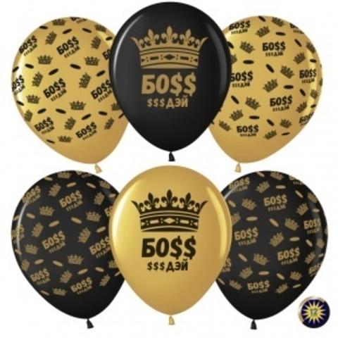 МЛ 12'' Босс $$$ Дэй (корона), Золото (818)/Черный (299), металлик, 5 ст