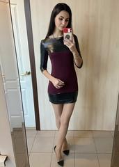 Боня. Оригінальна молодіжна сукня. Бордо