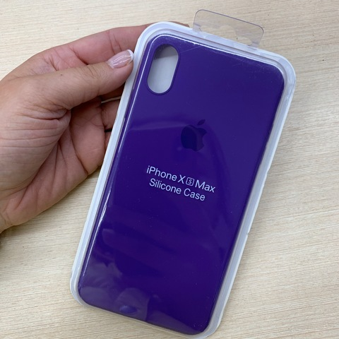 Чехол iPhone XS Max Silicone Slim Case /ultra violet/