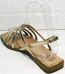 Модные босоножки с квадратным носом босоножки квадратный каблук Wollen M.20237D ZS Gold.