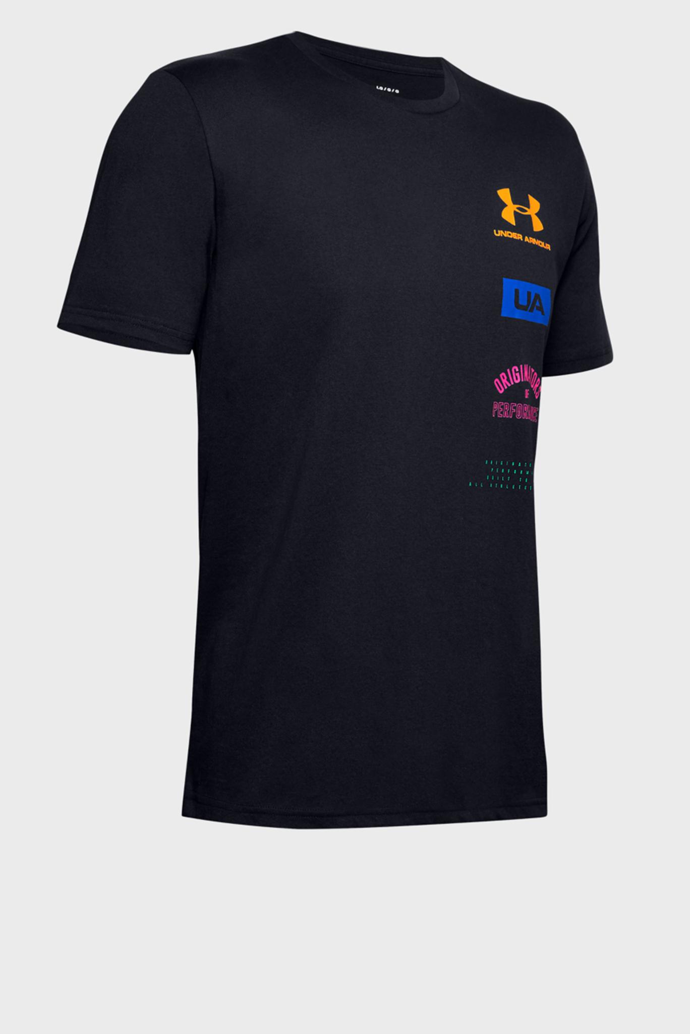 Мужская черная футболка UA PERF. ORIGIN BACK SS-BLK Under Armour