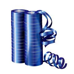 Серпантин фольгированный Металл Синий 4 м / 2 шт. (36 колец)