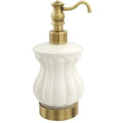 Дозатор Migliore Olivia ML.OLV-60.617.BI.BR Белый/бронза для жидкого мыла настольный