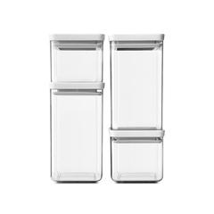 Набор прямоугольных контейнеров 4 шт, Светло-серый