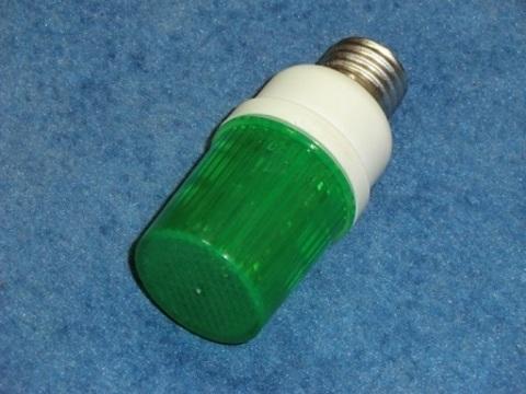 Строб лампа ксеноновая зеленая Е27