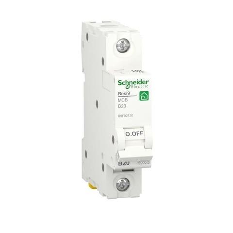 Автоматический выключатель 1P - 20 A тип B 1 модуль 230 В~. Schneider Electric Resi9. R9F02120