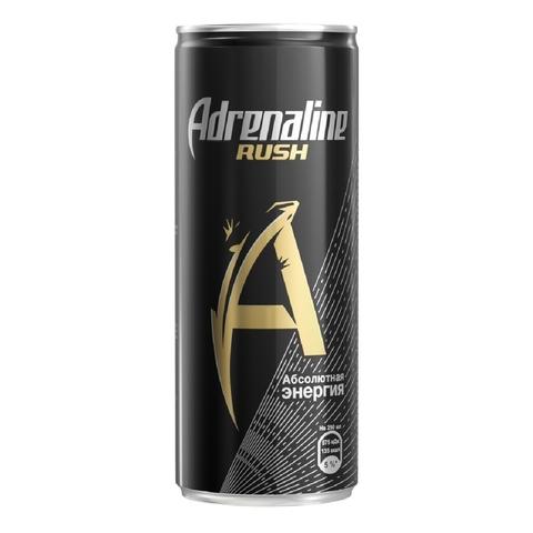 Напиток энергетический ADRENALINE RUSH 0,25 л ж/б РОССИЯ