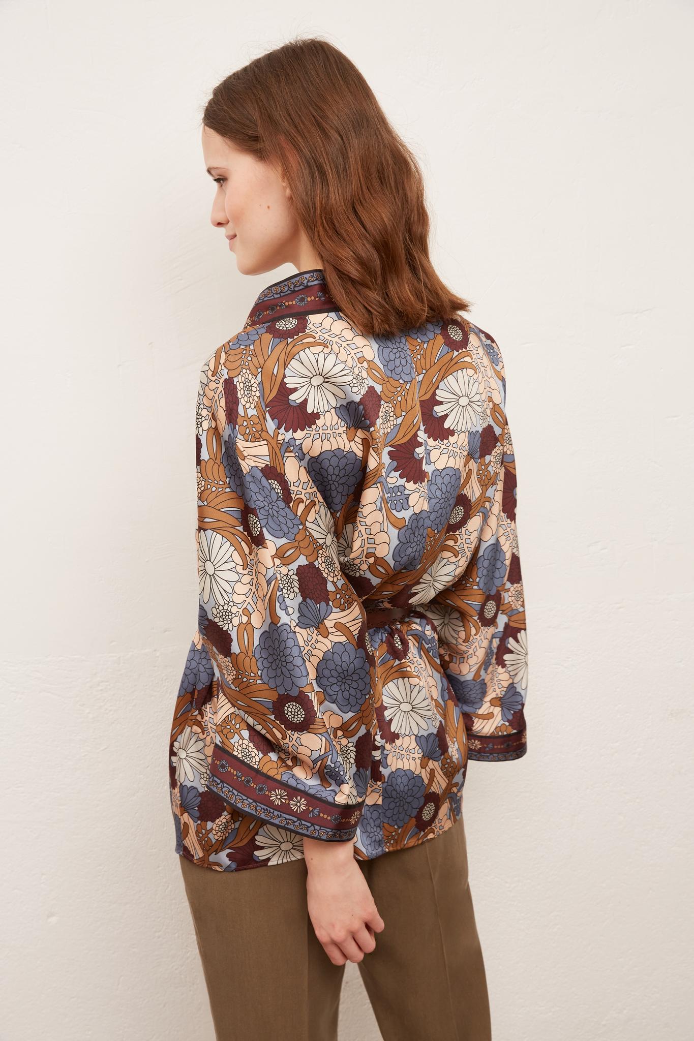 AGATHE - Жакет в стиле кимоно с цветочным принтом
