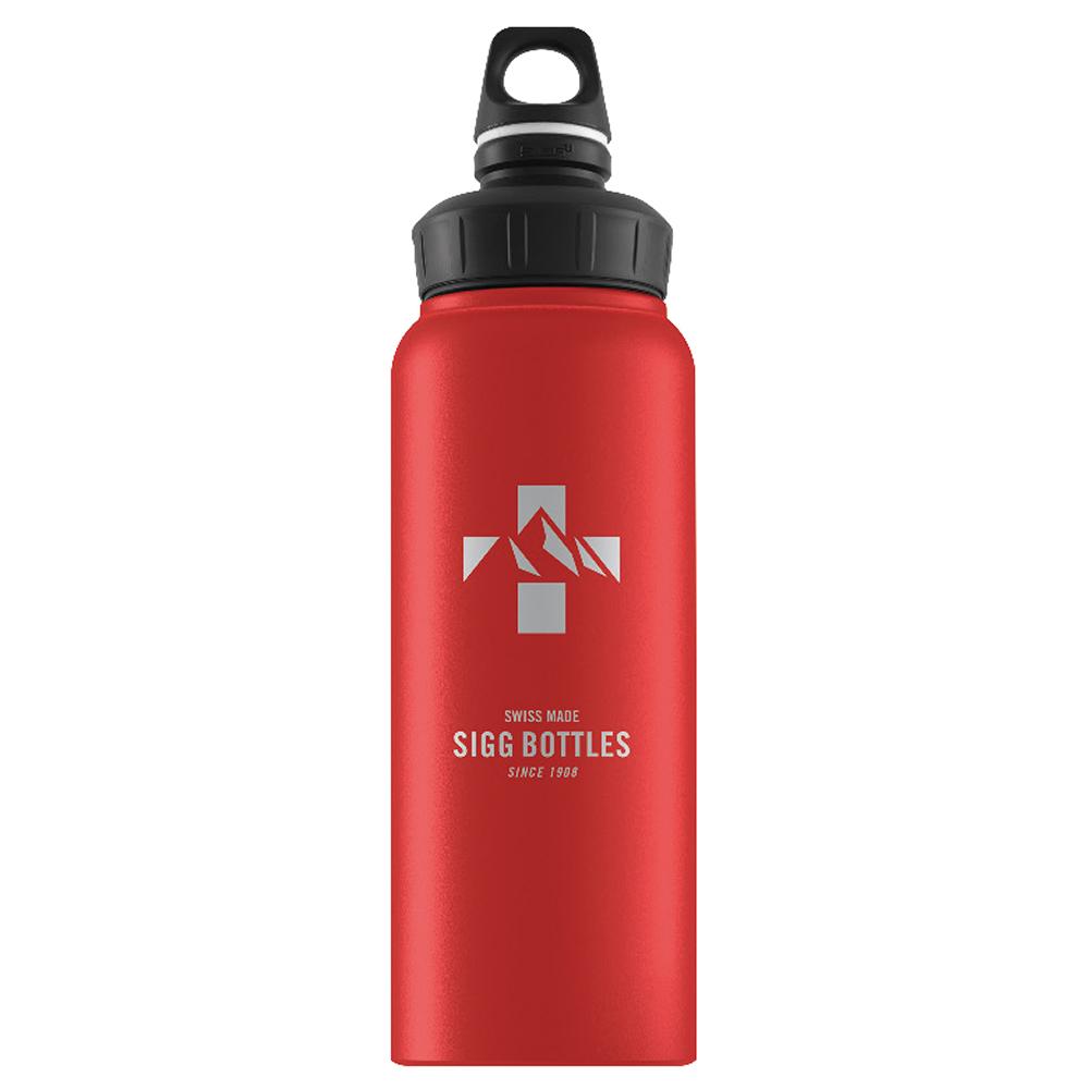 Бутылка Sigg WMB Mountain (1 литр), красная