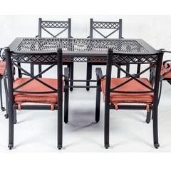 Комплект мебели из литого алюминия Сицилия