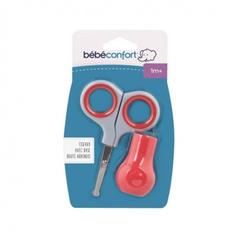 Bebe confort. Ножницы безопасные с базой для хранения, красный вид 2