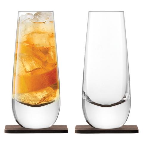 Набор из 2 бокалов на подставке из ореха Whisky Islay, 325 мл