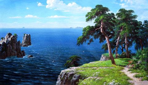 Картина раскраска по номерам 40x50 Вид на океан