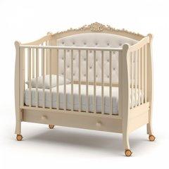 Кровать детская Жанетт new с колесами и ящиком слоновая кость