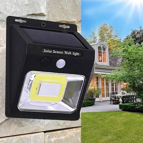 Светодиодный беспроводной солнечный светильник Smart Light led  с датчиком движения
