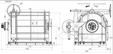 Траловая лебедка IYJ45-60-1000-22-PDL(L)