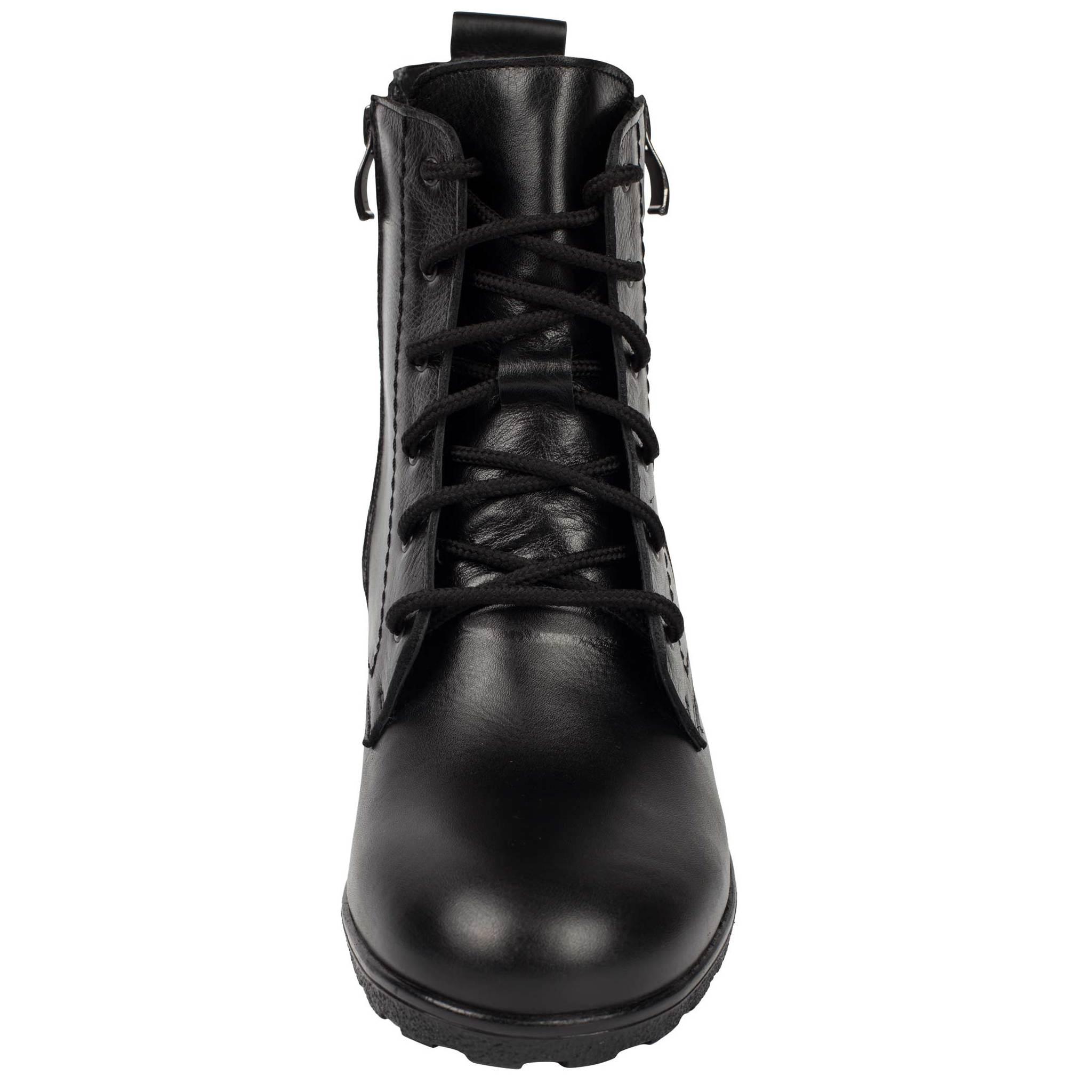 572401 Ботинки женские черные больших размеров марки Делфино