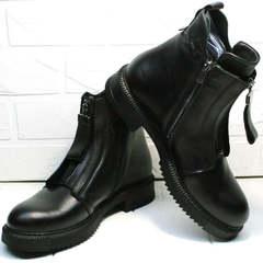 Демисезонные ботинки женские кожаные Tina Shoes 292-01 Black.