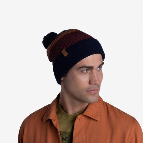 Вязаная шапка Buff Hat Knitted Elon Night Blue фото 2