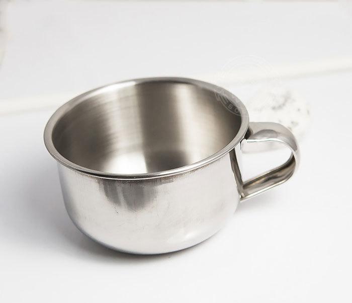 RAZ311 Чаша для бритья из стали с ручкой фото 03