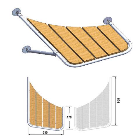 Платформа кормовая (правый борт) 470х650х950 мм