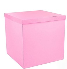 Коробка для шаров (розовая) 60*60*60 см.