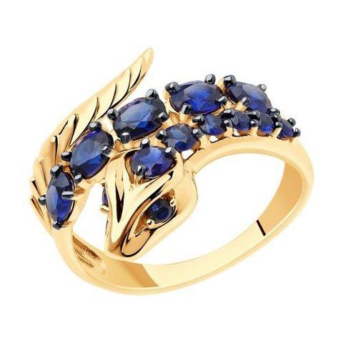 715986 - Кольцо из золота с корундами