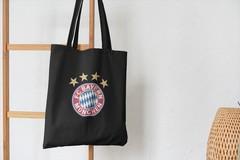 Сумка-шоппер с принтом FC Bayern München (ФК Бавария) черная 003