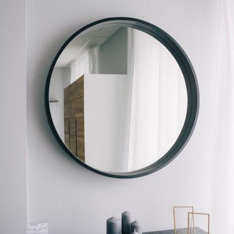 Зеркало круглое из дуба Иконс