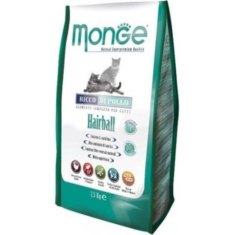 Monge Cat Hairball – Курица с рисом. Выведение шерсти из желудка 10 кг