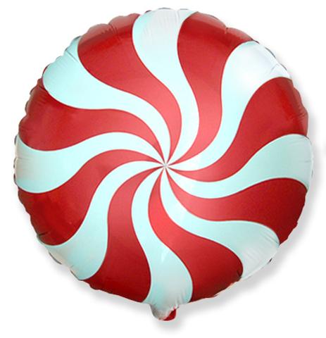 Фольгированный шар Леденец красный