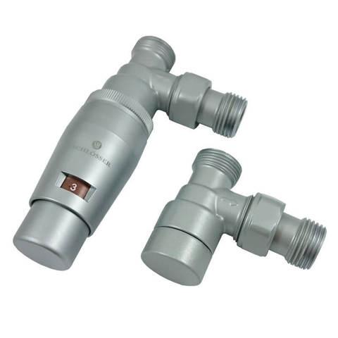 Комплект угловой GZ1/2 x M22x1,5 Сатин с головкой Мини M30x1,5