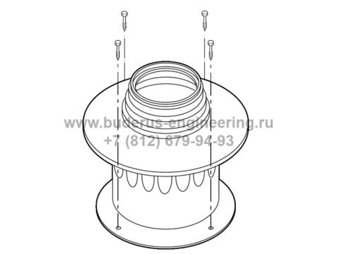 Переходник отвода газов DN60/100 - 80 к котлу Buderus Logamax U072 (60,100-80)