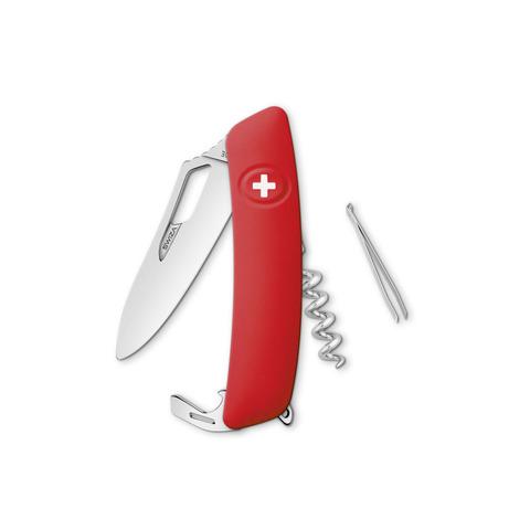Швейцарский нож SWIZA SH01 R-WM Standard, 95 мм, 7 функций, красный