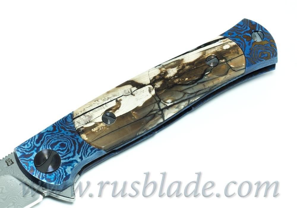 Cheburkov Pike Mammoth Damascus Custom one-off Knife - фотография