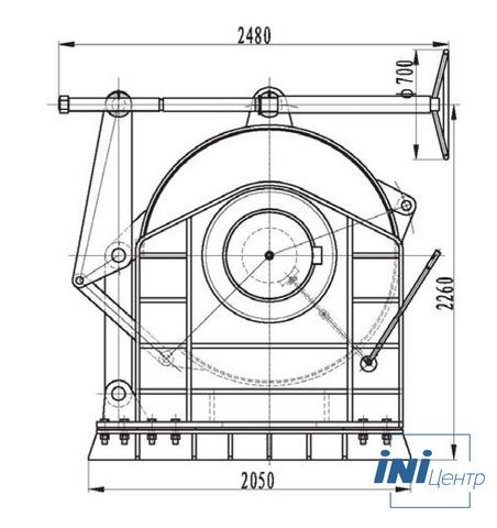 Компактная электрическая лебедка IDJ479-120-350-43 (3.2)