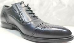 Выпускные туфли мужские классические Ikoc 3805-4 Ash Blue Leather.