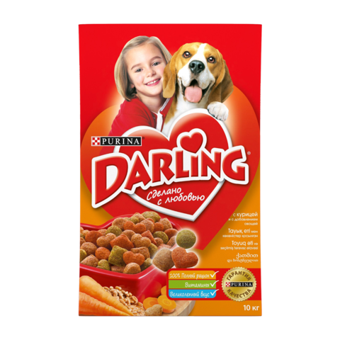 Purina Darling Сухой корм для собак с птицей и овощами