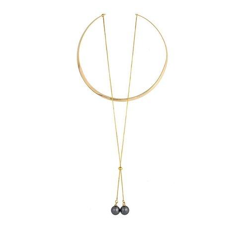 Колье Graphite Pearl B0501.3 BW/G